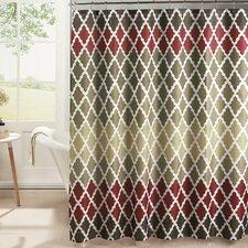 Diamond Weave Textured Shower Curtain Set
