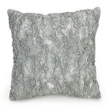 Golden Peony Textured Decorative Cotton Throw Pillow