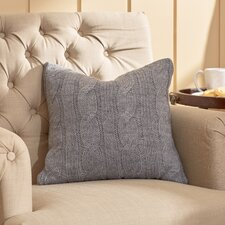 Deluxe Cable Knit Throw Pillow