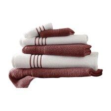 Lapeer Egyptian Quality Cotton 6 Piece Striped Towel Set