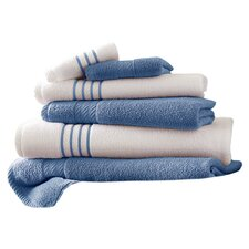 Lapeer Egyptian Quality Cotton 6 Piece Striped Towel Set