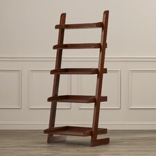 """Brownville Ladder 55"""" Leaning Bookcase"""