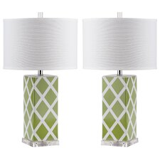 "Benton 27"" H Table Lamp with Drum Shade (Set of 2)"