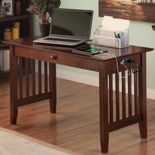 Livonia Writing Desk with Drawer and Charging Station