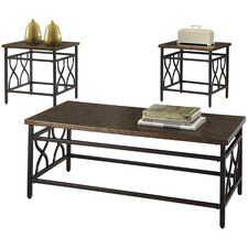 Hartwick 3 Piece Coffee Table Set
