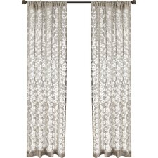 Geneseo Scroll Rod Pocket Single Curtain Panel