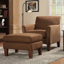 Oliver Microfiber Arm Chair and Ottoman