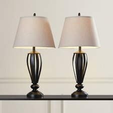 "Gainseville 29.6"" H Table Lamp with Empire Shade (Set of 2)"