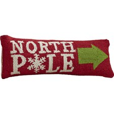 Newson This Way North Pole Hook Wool Throw Pillow
