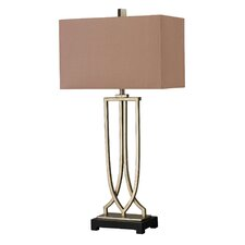 """Spafford Iron LED 33"""" Table Lamp with Rectangular Shade"""