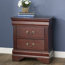 Atlasburg 2 Drawer Nightstand