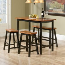 Lamantia 4 Piece Counter Height Pub Table Set