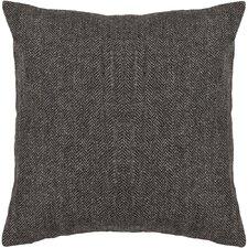 Marietta Textured Grey Wool Throw Pillow