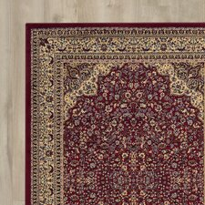 Traditional Area Rug in Maroon