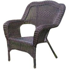 Wyndmoor  Wicker Resin Steel Deep Seated Patio Chair (Set of 2)