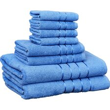 Ellwood 100% Egyptian Quality Cotton Plush 8 Piece Towel Set
