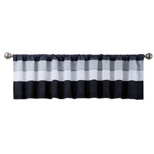 Scottdale Blue/White Rod Pocket Valance