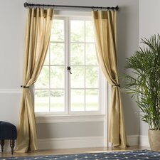 Taylorstown Faux Silk Curtain Panel (Set of 2)