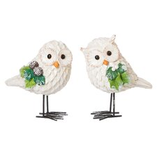 White Owl Table Decor