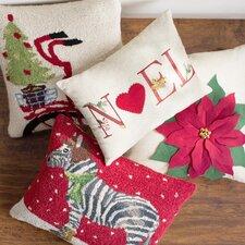 Koons Winter Zebra Hook Wool Lumbar Pillow