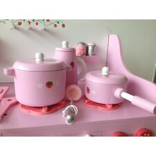 My Strawberry Wooden Play Kitchen