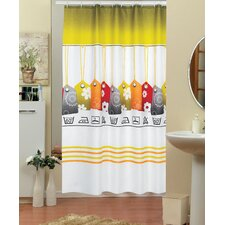 Labels Funky Shower Curtain
