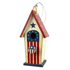 Americana Cottage Hanging Birdhouse (Set of 2)