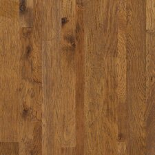 Random Width Engineered Hickory Hardwood Flooring in Flintlock