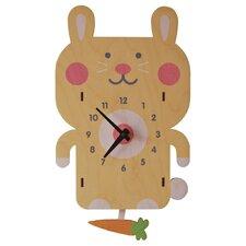 Rabbit Pendulum Wall Clock