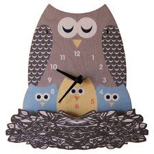 Nest Owl Wall Clock