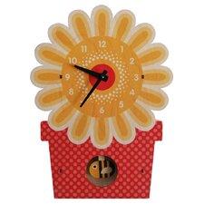 Flowerpot Pendulum Wall Clock
