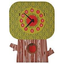 Apple Tree Pendulum Wall Clock