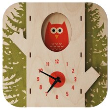 Tree Owl Wall Clock