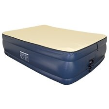 "Foundation 22"" Raised Memory Foam Air Mattress with Built-in Pump"