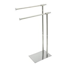 Milan Freestanding Stainless Steel Towel Rack