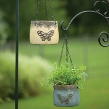 Butterfly Round Hanging Pot