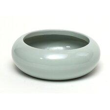 Glazed Round Dish Planter