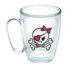 Totally Kids Skull and Crossbones Girl Mug