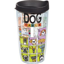 Pets Dog Periodic Table Tumbler with Lid