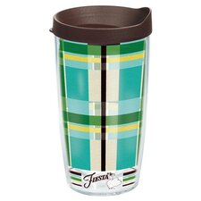 Fiesta Cool Blue Plaid Tumbler