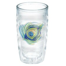 Garden Party Sequin Peacock Feather 10 Oz. Wavy Tumbler