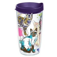 Pets Picture Purrfect Tumbler with Lid