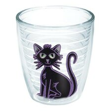 Seasonal Felt Black Cat Tumbler