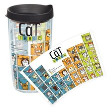 Pets Cat 16 Oz. Periodic Table Tumbler with Lid