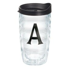 Initials Deco 10 Oz. Wavy Tumbler with Lid