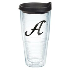 Initials Scroll Tumbler with Lid