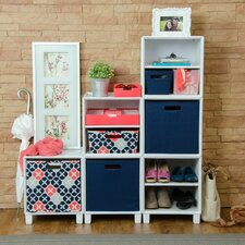"Plastic Storage 15"" Cube Unit Bookcase"