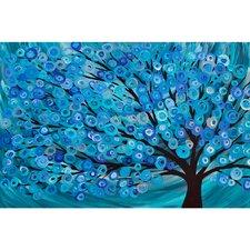 Leinwandbild Tree of Life (Blue), Kunstdruck