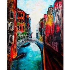 """Leinwandbild """"Venice - Canale Grande"""" von M. Bleichner, Kunstdruck"""