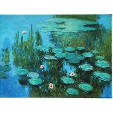 "Leinwandbild ""Seerosen"" von Claude Monet, Kunstdruck"